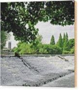 River Derwent Weir - Derby Wood Print