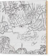 River Dragon Wood Print