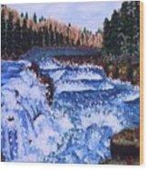 River Falls Wood Print