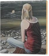 River Girl Wood Print