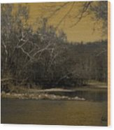 River Glow Wood Print
