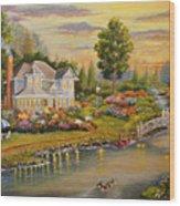 River Home Wood Print