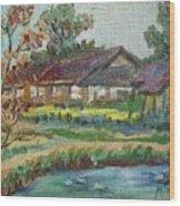 River Home  Minature Wood Print