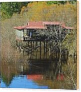 River House Wood Print