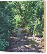 River In August Wood Print