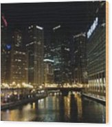 River In Chicago Wood Print
