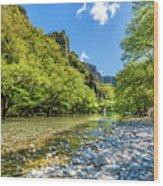 River In Kleidonia Zagora Wood Print