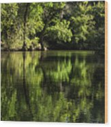 River In The Mountain Wood Print