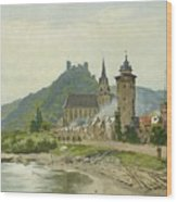 River Landscape Of The Rhine Wood Print