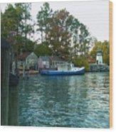 River Marker Light Wood Print