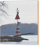 River Marker Wood Print