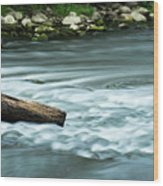 River Motion Wood Print