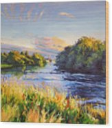 River Moy At Ballina Wood Print