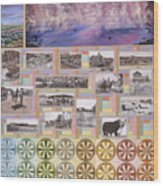River Mural Summer Panel Bottom Half Wood Print