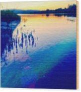 River Musing Wood Print