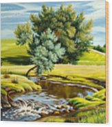 River Of Life Wood Print