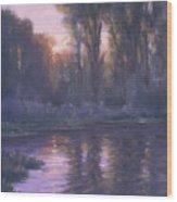 River Of Light Wood Print