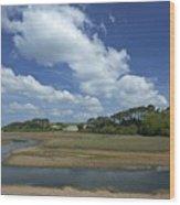 River Otter Estuary,  Budleigh Salterton, Devon, Southwest England, Uk Gb Wood Print