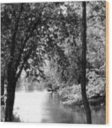 River Passage Through Trees Wood Print