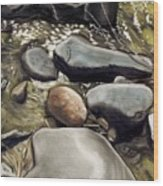 River Rock Formations Wood Print