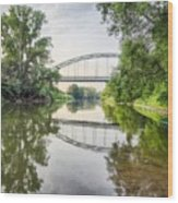 River Saale Bridge Near Dehlitz Wood Print