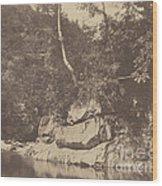 River Scene Wood Print