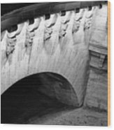 River Seine Bridge Wood Print