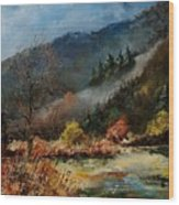 River Semois Wood Print