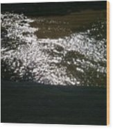 River Shimmer Wood Print