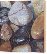 River Stones Wood Print