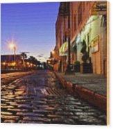 River Street At Dusk Wood Print