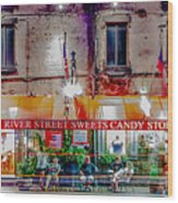 River Street Sweets Candy Store Savannah Georgia   Wood Print