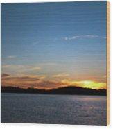 River Sun Set Wood Print