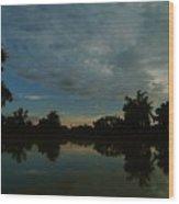 River Sunrise 1 Wood Print
