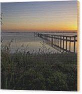 River Sunsrise - Florida Sunrise Scenic Wood Print