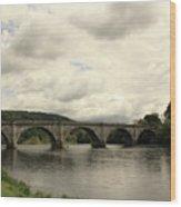 River Tay At Dunkeld Wood Print