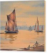 River Thames At Greenwich London Wood Print