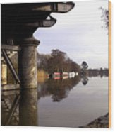 River Thames At Sandford. Wood Print by Mike Lester