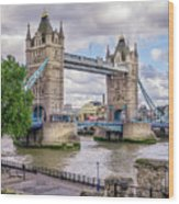 River Thames Wood Print