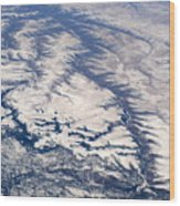 River Valley Aerial Wood Print