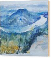 River View Landscape Wood Print