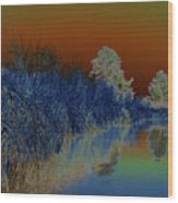 River View Serenity Wood Print