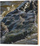 River Washed Rock Wood Print