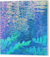 Distractions From The River Waters Wood Print