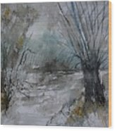 River Watercolor 711082 Wood Print