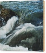 River With Rapids Wood Print