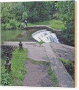 River Wye Weir Wood Print