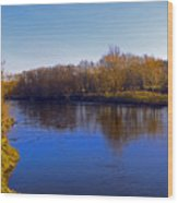 River Wye,herefordshire Uk Wood Print