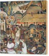 Rivera: Pre-columbian Life Wood Print