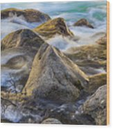 Riverbank Wood Print